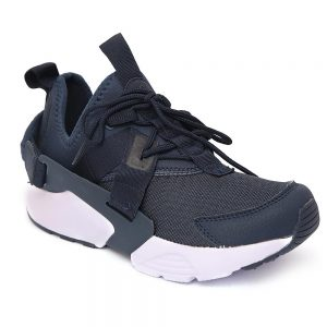 Men's Huarache Run Ultra Running Sneakers - Navy Blue