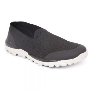 Men's Laceless Walking Shoes - Black