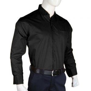 Men's Plain Formal Shirt - Black