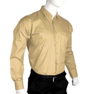 Men's Plain Formal Shirt - Cream