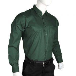Men's Plain Formal Shirt - Dark Green
