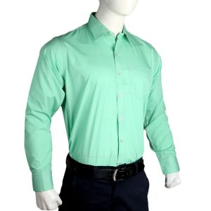 Men's Plain Formal Shirt - Green