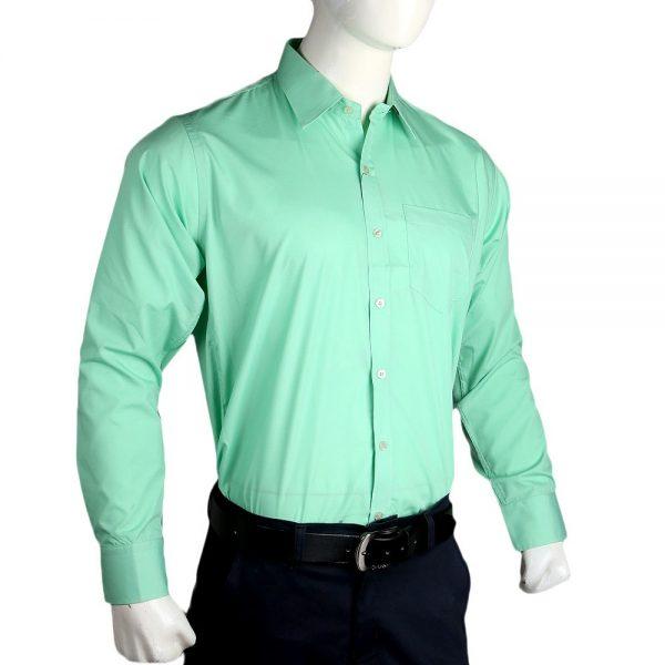 Men's Plain Formal Shirt - Green