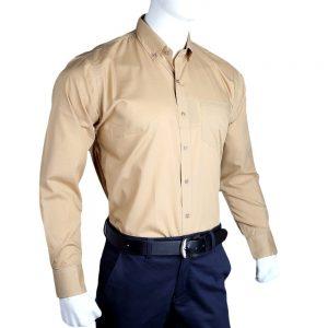 Men's Plain Formal Shirt - Khaki