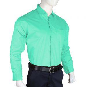 Men's Plain Formal Shirt - Sea Green
