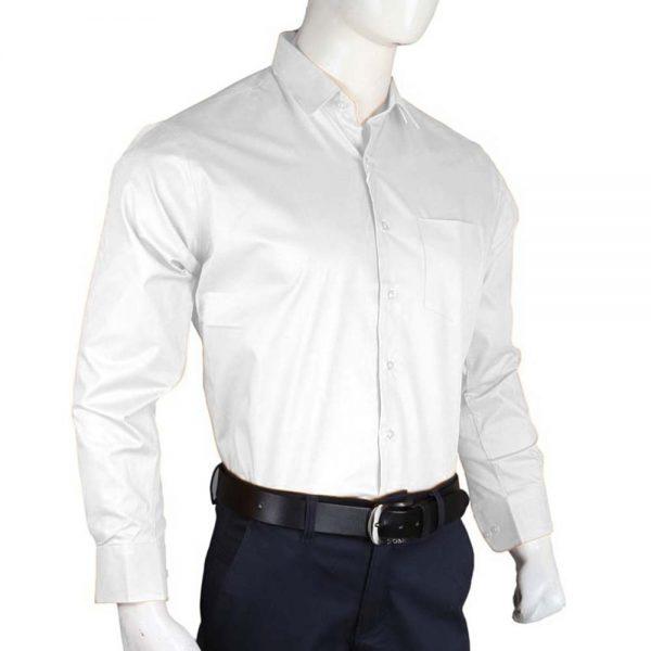 Men's Plain Formal Shirt - White