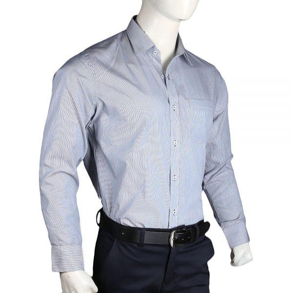 Men's Stripes Formal Shirt - Grey