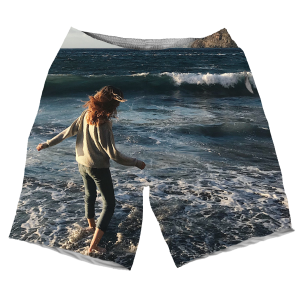 A Girl Standing On The Sea Waves MEN SHORTS SH-M00377