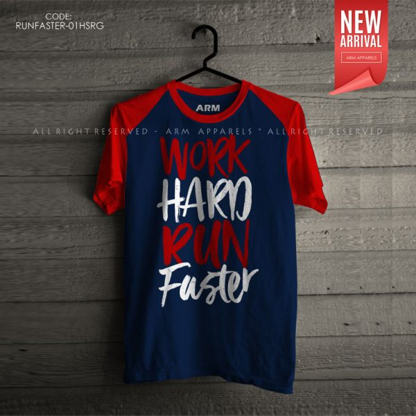ARM Apparels Work Hard Run Faster Raglan T-Shirt