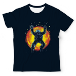 Astronaut In Fire UNISEX ALL-OVER PRINT TEE UAT-M002868