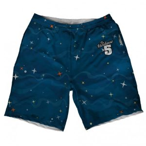 Cartoon Space Printed Shorts short-58