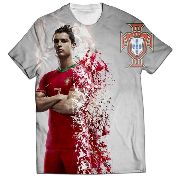 online store 2c698 a8895 Cristiano Ronaldo All Over Printed T-shirt AO-T-S-156