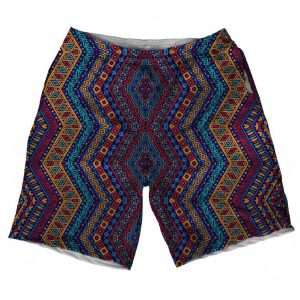 Ethnic Design Printed Shorts short-100