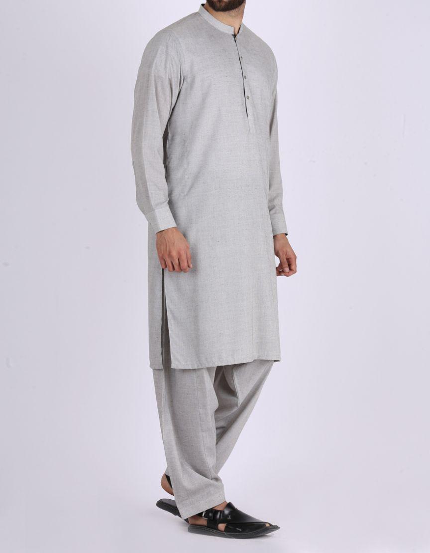 438679d8b2 Junaid Jamshed Winter Collection 2018 CHARCOAL GREY Polyester Viscose  Regular Kurta for Men 102158794