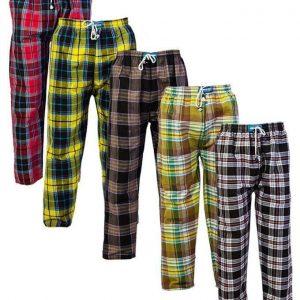 Mardaz Pack Of 5 - Multicolour Checkered Cotton Pajamas For Men MA305FA1FT640NAFAMZ-1440152