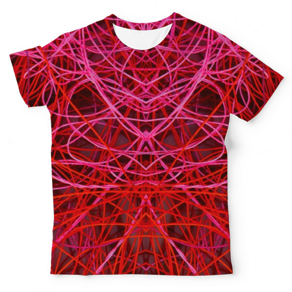 Red Lines Abstract Painting On Black Summer ArtWork UNISEX ALL-OVER PRINT TEE UAT-M002846