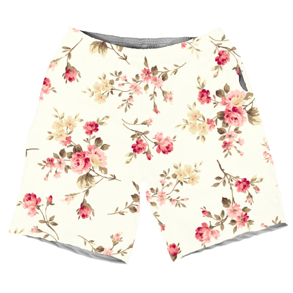 Summers Cool Abstract Red Floral Careem Pattern MEN SHORTS SH-M002092