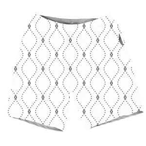 Summers Cool Black And White Geometric Pattern MEN SHORTS SH-M002111