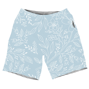 Summers Cool Floral Sky Blue Cool Pattern MEN SHORTS SH-M002109