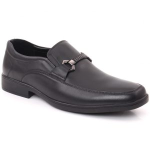 Unze London Men COLIN Stitched Detail Belted Buckle Moc Toe Formal Shoes GS6794