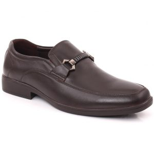 Unze London Men COLIN Stitched Detail Belted Buckle Moc Toe Formal Shoes GS6795