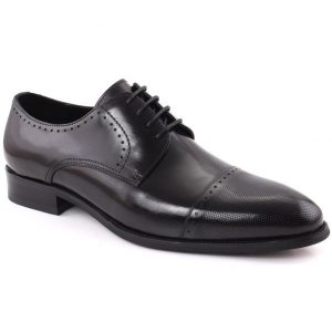 Unze London Men LOUIE Closed Lace Perforated Cap Toe Leather Formal Shoes GS6584