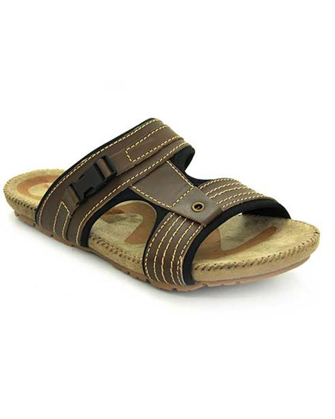 b895b1b48 Weinbrenner Summer Brown PU Synthetic Sandals For Men 3490536 ...