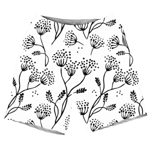 White And Black Summers New Arrival Artwork MEN SHORTS SH-M002141