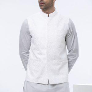 Sapphire White Waist Coat
