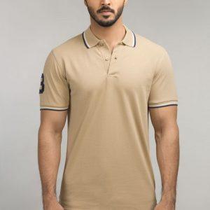 Gul Ahmed Beige Fashion Polo PKP-ST-54