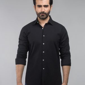 Gul Ahmed Black Casual Shirt CM-YD-2698