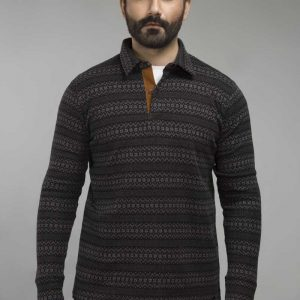 Gul Ahmed Black Urban Polo FS-SJP-URB-D10