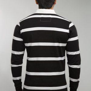 Gul Ahmed Black &White Yarn Dyed Polo FS-SJP-YD-D05