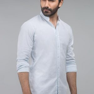 Gul Ahmed Blue Casual Shirt CM-YD-2699