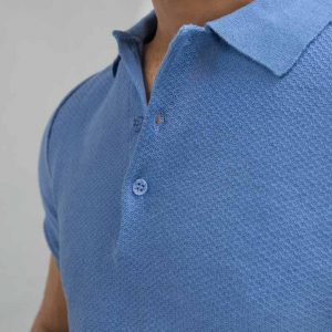 Gul Ahmed Blue Fashion Polo PKP-URB-D46-01