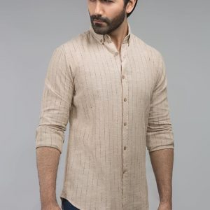 Gul Ahmed Brown Casual Shirt CM-YD-2712