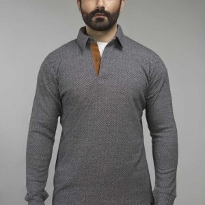 Gul Ahmed Charcoal Urban Polo FS-SJP-URB-D07