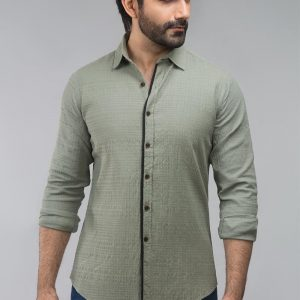 Gul Ahmed Green Casual Shirt CM-YD-2697