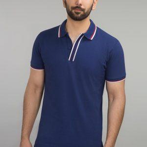 Gul Ahmed Navy Fashion Polo PKP-URB-D54