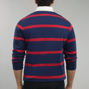 Gul Ahmed Navy Red Yarn Dyed Polo FS-SJP-YD-D04