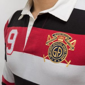 Gul Ahmed White &Red Yarn Dyed Polo FS-SJP-YD-D06