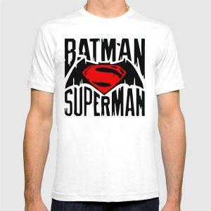 Batman Vs Superman Printed Round Neck T-Shirt in White