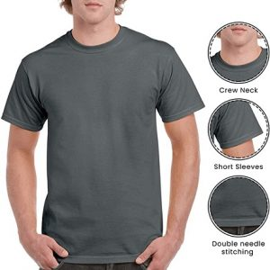 Cheetah Apparel Plain Round Neck T Shirt in Charcoal